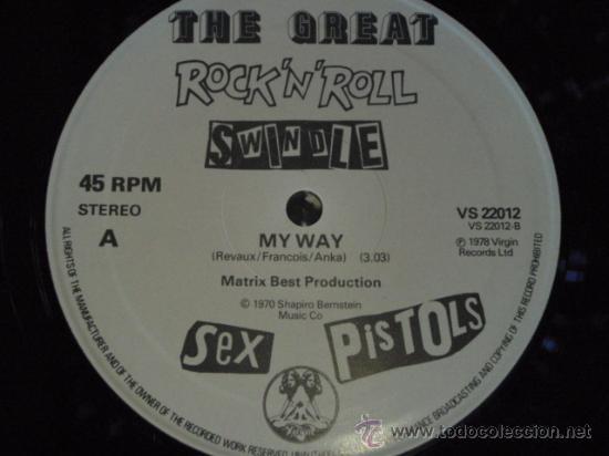Discos de vinilo: SEX PISTOLS ( MY WAY - THE BIGGEST BLOW ) 1970 / 1978 MAXI45 WARNER BROS MUSIC - Foto 4 - 28072407