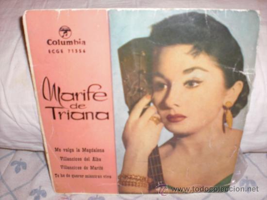MARIFE DE TRIANA-EP-ME VALGA LA MAGDALENA +3 (Música - Discos de Vinilo - EPs - Flamenco, Canción española y Cuplé)