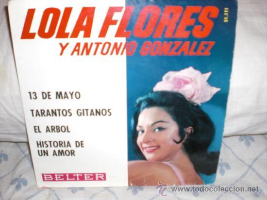 LOLA FLORES Y ANTONIO GONZALEZ-EP-TRECE DE MAYO+3 (Música - Discos de Vinilo - EPs - Flamenco, Canción española y Cuplé)