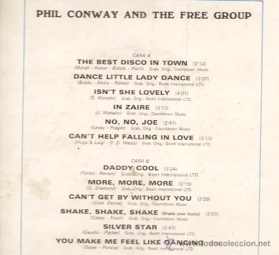 Discos de vinilo: LP PHIL CONWAY AND THE FREE GROUP: LA MEJOR DISCOTECA DE LA CIUDAD - Foto 2 - 28081631