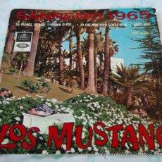 Discos de vinilo: LOS MUSTANG 'SAN REMO 1965' (YO QUE NO VIVO SIN TI - ANTES O DESPUES - AMIGOS MIOS - SI LLORAS, . Lote 28081638