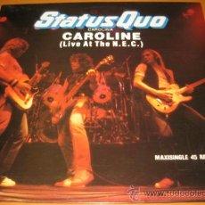 Discos de vinilo: STATUS QUO - CAROLINE - CAROLINA - LIVE AT THE N.E.C - MX - VERTIGO 1982 SPAIN 64 00 718. Lote 28089832