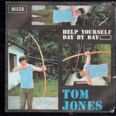 Discos de vinilo: SINGLE DE TOM JONES. HELP YOURSELF DAY BY DAY. Lote 28088762