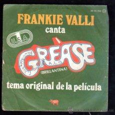 Discos de vinilo: SINGLE DE FRANKIE VALLI CANTA GREASE. Lote 28088983