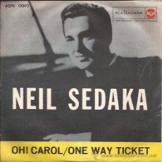 Discos de vinilo: SINGLE-NEIL SEDAKA-RCA 0910-ITALIA-196???-. Lote 28089133