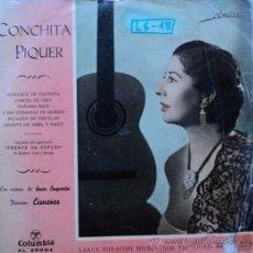 Discos de vinilo: CONCHITA PIQUER, PUENTE DE COPLAS, 1ª EDICION DE ESPAÑA. 10 PULGADAS. Lote 28090455