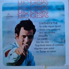 Discos de vinilo: JULIO IGLESIAS, GWENDOLYNE, EDICION DE 1970 DE ESPAÑA, 10 PULGADAS. Lote 28090495