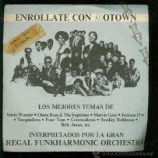 Discos de vinilo: SINGLE DE STEVIE WONDER, DIANA ROSS, TEMPTATIONS... ENROLLATE CON MOTOWS. MEJORES TEMAS. 2 DISCOS. . Lote 28097405