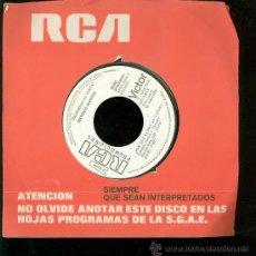 Discos de vinilo: SINGLE DE RCA. PROMOCIONAL. CANCION DE INVIERNO. . Lote 28097416