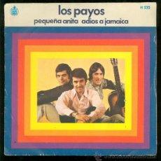 Discos de vinilo: SINGLE DE LOS PAYOS. PEQUEÑA ANITA. ADIOS A JAMAICA. HISPA VOX. . Lote 28097496