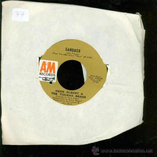 SINGLE DE SANDBOX. HERB ALBERT & THE TIJUANA BRASS. (Música - Discos - Singles Vinilo - Otros estilos)