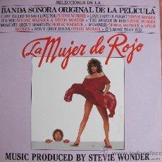 Discos de vinilo: LP - STEVIE WONDER - LA MUJER DE ROJO(BANDA SONORA ORIGINAL)-ORIGINAL ESPAÑOL, MOTOWN RECORDS 1984. Lote 28102704