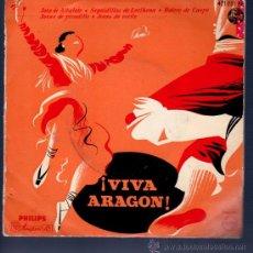 Discos de vinilo: SINGLE DE ¡VIVA ARAGON!. JOTAS DE ESTILO. BOLERO DE CASPE. . Lote 28107379