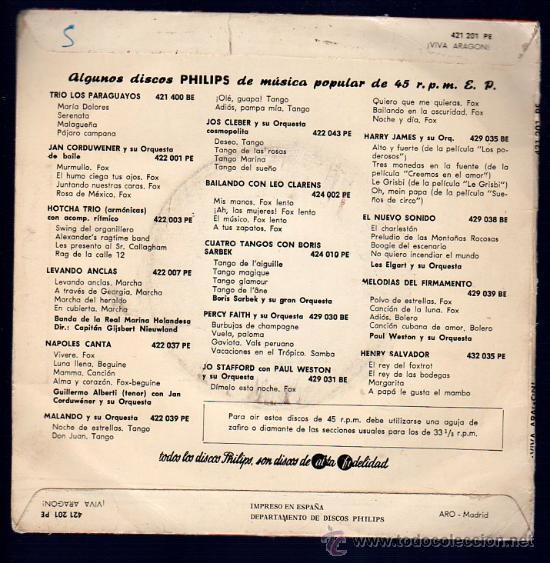 Discos de vinilo: SINGLE DE ¡VIVA ARAGON!. JOTAS DE ESTILO. BOLERO DE CASPE. - Foto 2 - 28107379