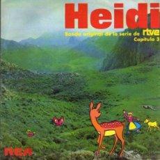 Discos de vinilo: SINGLE - HEIDI BSO DE LA SERIE DE RTVE - CAPÍTULO 3. Lote 28107005