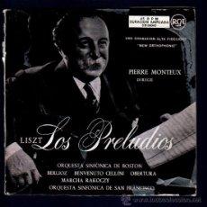 Discos de vinilo: SINGLE DE LISZT. LOS PRELUDIOS. ORQUESTA SINFONICA. PIERRE MONTEUX. 2 DISCOS.. Lote 28107578