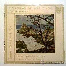Discos de vinilo: OBERTURAS DE BEETHOVEN, ORQUESTA FILARMONICA DE LA HAYA, 45 RPM, 1958. Lote 28110580