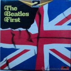 Discos de vinilo: THE BEATLES/T.SHERIDAN, BEATLES FIRST, EDICION DE FRANCIA, DOBLE. Lote 28113292