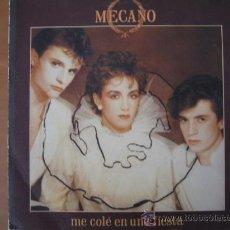 Discos de vinilo: MECANO - ME COLÉ EN UNA FIESTA - SINGLE. Lote 28135172