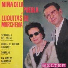Discos de vinilo: LA NIÑA DE LA PUEBLA Y LUQUITAS DE MARCHENA - 1964. Lote 28142161