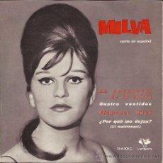 Discos de vinilo: EP-MILVA-VERGARA 356005-CANTA EN ESPAÑOL. Lote 28150887