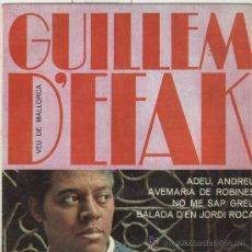 Discos de vinilo: GUILLEM D'EFAK. BALADA D'EN JORDI ROCA, ADEU ANDREU, ETC. CONCENTRIC 1964. EP. Lote 28158076