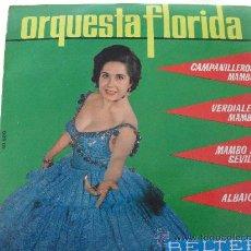 Discos de vinilo: ORQUESTA FLORIDA - CAMPANILLEROS MAMBO + 3 EP 1963. Lote 28163459