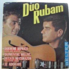 Discos de vinilo: DUO RUBAM - QUIEREME DEPRISA + 3 EP 1963. Lote 28163846
