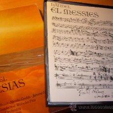 Discos de vinilo: HANDEL ( EL MESIAS ) 3 LP CAJA CON LIBRETO (FER1) . Lote 28178203