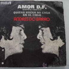 Discos de vinilo: ANDRES DO BARRO - AMOR D.F. 1972. Lote 28177496