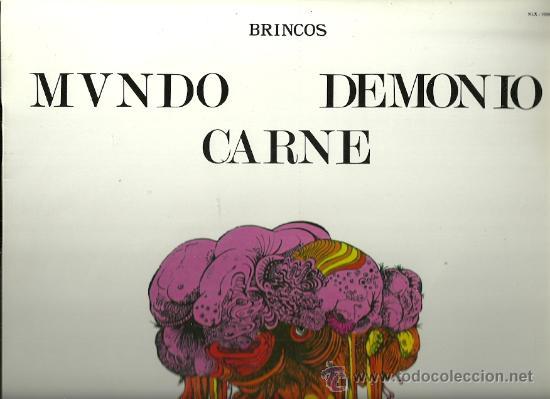 LOS BRINCOS LP SELLO ZAFIRO CARPETA SENCILLA REDICCION AÑO 1970 MUNDO DEMONIO Y CARNE (Música - Discos - LP Vinilo - Grupos Españoles 50 y 60)
