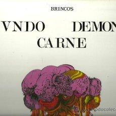 Discos de vinilo: LOS BRINCOS LP SELLO ZAFIRO CARPETA SENCILLA REDICCION AÑO 1970 MUNDO DEMONIO Y CARNE. Lote 28194571
