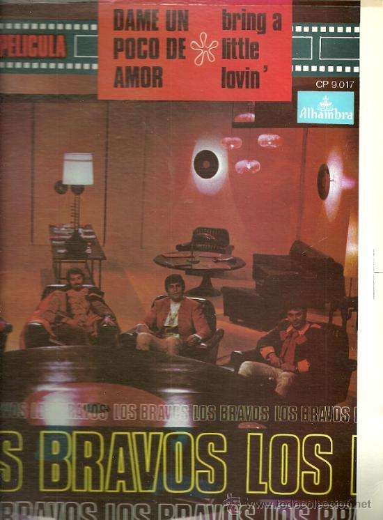 LOS BRAVOS LP SELLO ALHAMBRA EDITADO EN USA. DEL FILM DAME UN POCO DE AMOR (REDICCIÓN) (Música - Discos - LP Vinilo - Grupos Españoles 50 y 60)