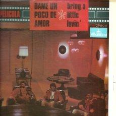 Discos de vinilo: LOS BRAVOS LP SELLO ALHAMBRA EDITADO EN USA. DEL FILM DAME UN POCO DE AMOR (REDICCIÓN) . Lote 28194585