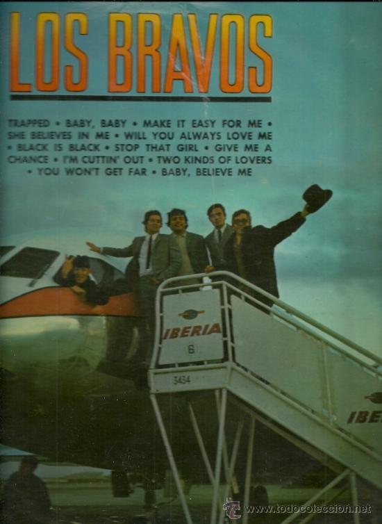 LOS BRAVOS LP SELLO COLUMBIA AÑO 1966 (Música - Discos - LP Vinilo - Grupos Españoles 50 y 60)