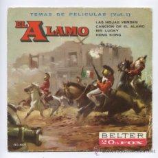Discos de vinilo: EL ALAMO_TEMAS DE LA PELICULA (VOL.I)_EP. VINILO 7_1961. Lote 28194689