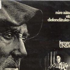 Discos de vinilo: LP 33 RPM / FERNANDO UNSAIN / NIRE AITAREN ETXEA DEFENDITUKO DUT // EDITADO POR IZ . Lote 28201731