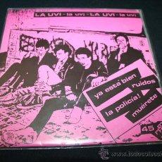 """Disques de vinyle: SINGLE 7"""" PUNK HARDCORE LA UVI. Lote 28212016"""