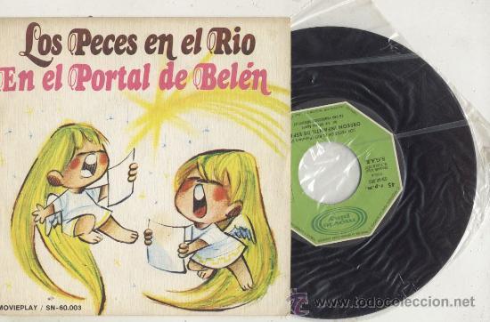 SINGLE 45 RPM / PECES EN EL RIO // EDITADO POR MOVIEPLAY (Música - Discos - LPs Vinilo - Música Infantil)