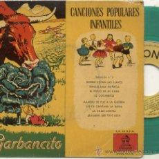 Discos de vinilo: SINGLE 45 RPM / CANCIONES POPULARES INFANTILES // EDITADO POR ODEON . Lote 28232892