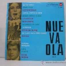 Discos de vinilo: NUEVA OLA VOL.III - ELENA DUQUE/LOS FLAPS Y TITO MORA - RCA VICTOR 1965. Lote 28236551