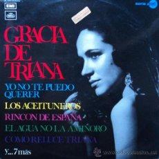Discos de vinilo: GRACIA DE TRIANA, EDICION DE 1972 DE ESPAÑA. Lote 28296834