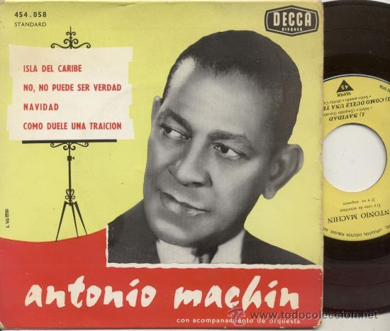 EP 45 RPM / ANTONIO MACHIN / NAVIDAD // EDITADO POR DECCA FRANCIA (Música - Discos de Vinilo - EPs - Grupos y Solistas de latinoamérica)