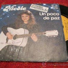Discos de vinilo: NICOLE - UN POCO DE PAZ ( VERSION EN ESPAÑOL ) ALEMANIA 1982 EUROVISION. Lote 28257703