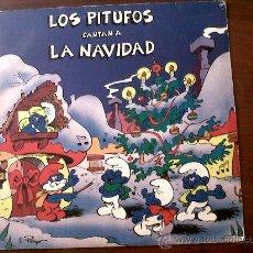 Discos de vinilo: LP LOS PITUFOS CANTAN A LA NAVIDAD 1985 EDITADO POR DISCOS VICTORIA S.A.. Lote 28258003