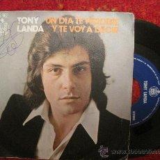 Discos de vinilo: TONY LANDA - UN DIA TE PERDERE / Y TE VOY A DECIR. Lote 28258111