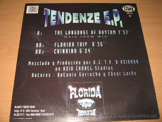 Discos de vinilo: FLORIDA 135 TENDENZE EP - GARRUCHO & LORES 12 año 1996 - Foto 2 - 28284062