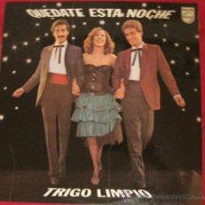 Disques de vinyle: TRIGO LIMPIO - QUEDATE ESTA NOCHE ( EUROVISION ESPAÑA 1980 ). Lote 28284445