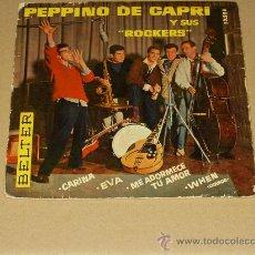 Discos de vinilo: PEPPINO DI CAPRI Y SUS ROCKERS EP CARINA+3 MUY RARO ORIGINAL AÑO 1959.. Lote 28299079