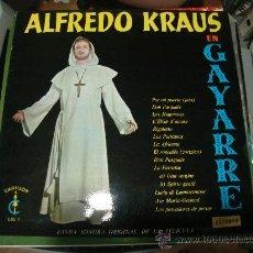 Discos de vinilo: LP DE ALFREDO KRAUS EN GAYARRE. BANDA SONORA ORIGINAL DE LA PELICULA.. Lote 28346966